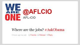 Twitter, Obama, AFL-CIO