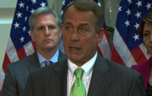 Boehner: Debt limit increase is Obama's problem