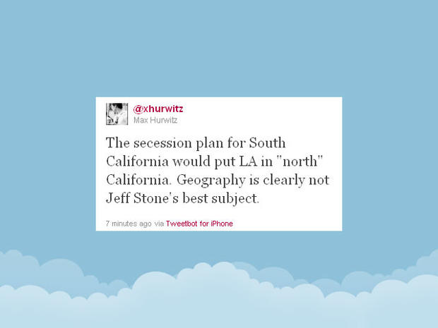 "9 tweeters on Republican ""South California"" secession talk"