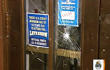 Letterman's studio doors smashed again