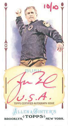 George W. Bush baseball card