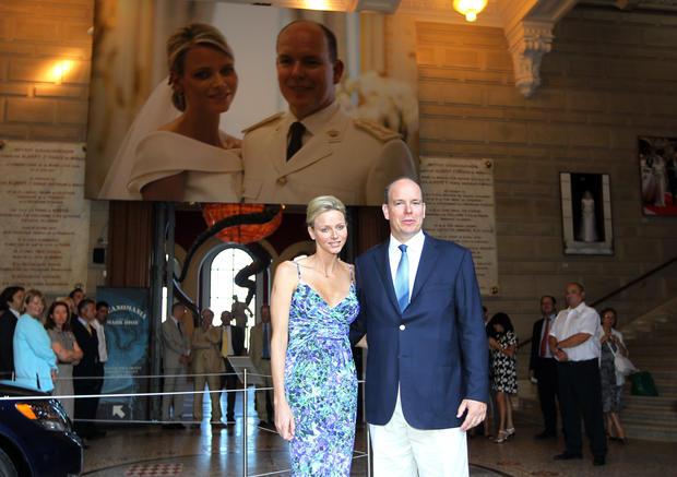 Monaco royal wedding exhibit