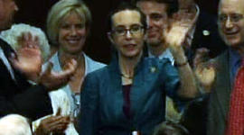 Gabby Gifford at House vote on Debt