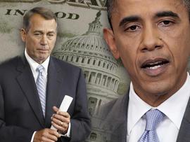 U.S. House Speaker John Boehner and President Barack Obama