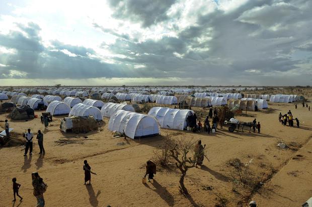 Somali refugees at the sprawling Dadaab camp