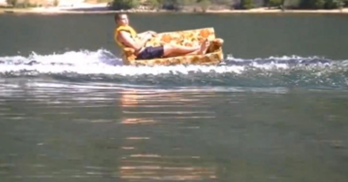 Guy reinvents the term couch surfing to make it literal for Couch surfing