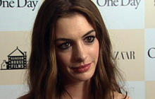 "Anne Hathaway falls in love in ""One Day"""