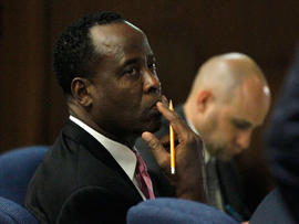 Recording of Michael Jackson doctor Conrad Murray played for jury