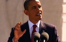 Obama speaks at MLK memorial dedication