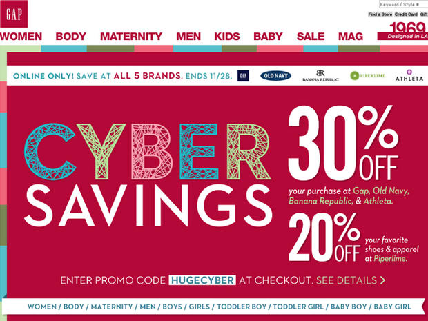 Like Gap coupons? Try these...
