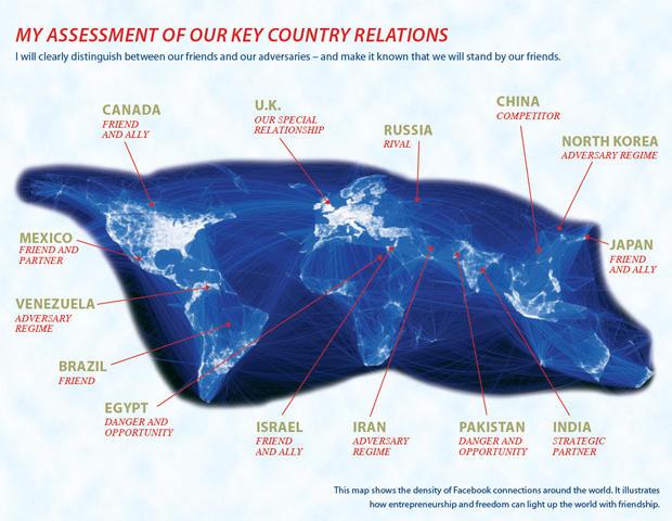 Hermain Cain worldmap