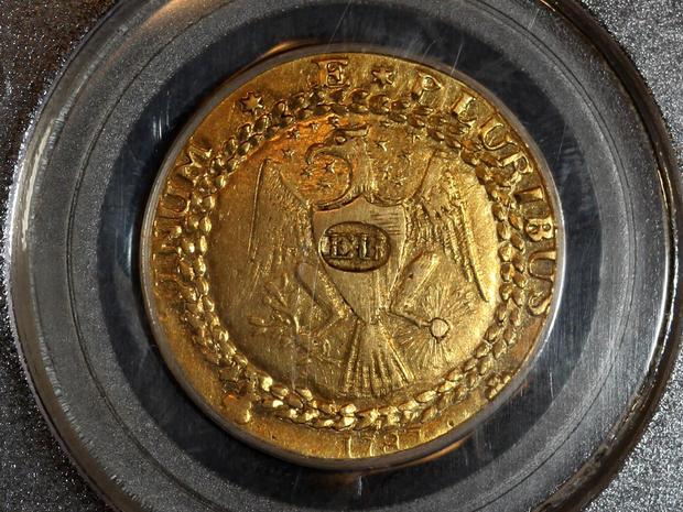 2011年12月9日,在新奥尔良,Blanchard and Company,Inc。Blanchard and Co提供的一张照片中,出现了罕见的1787金Brasher doubloon,售价为740万美元,是有史以来最高的金币价格之一。这家总部位于新奥尔良的硬币和贵金属公司表示,此次购买是由华尔街投资公司购买的。