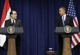 Barack Obama, Iraqi Prime Minister Nouri al-Maliki