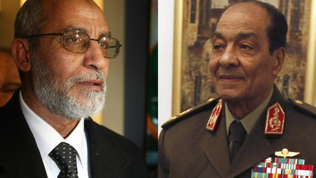 Mohammed Badei and Field Marshal Hussein Tantawi