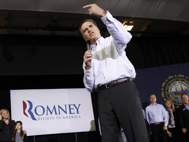 Mitt Romney campaigns in Bedford, N.H.
