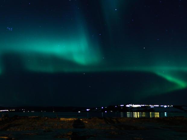 Aurora Borealis lights up the skies