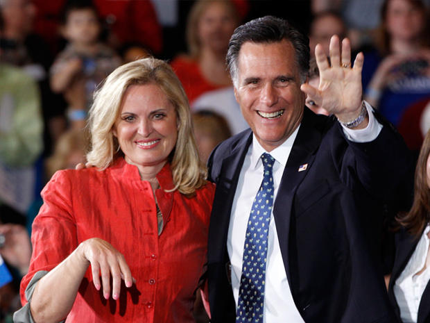 Republican presidential candidate, former Massachusetts Gov. Mitt Romney, and his wife Ann celebrates his Florida primary election win at the Tampa Convention Center in Tampa, Fla., Tuesday, Jan. 31, 2012.