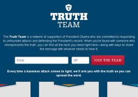 Obama, 2012, truth team