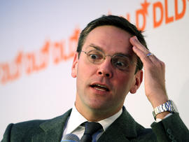 James Murdoch, son of Rupert Murdoch, looks on during the Digital Life Design conference at HVB Forum Jan. 25, 2011, in Munich, Germany.