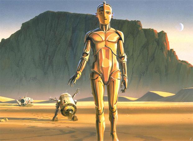 """Star Wars"" art by Ralph McQuarrie"