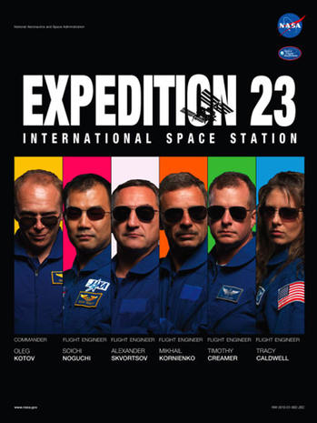 """Astronauts play stars in NASA mission """"movie"""" posters"""