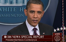 Obama takes on Rush Limbaugh in press conf