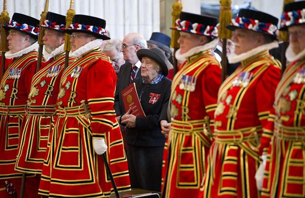 Jubilee year OBE service