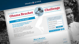 President Obama NCAA Basketball Bracket Selection