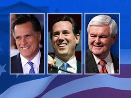 2012 - Elections Mitt Romney Rick Santorum Newt Gingrich