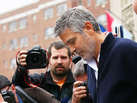 George Clooney arrested outside Sudanese embassy in Washington, DC