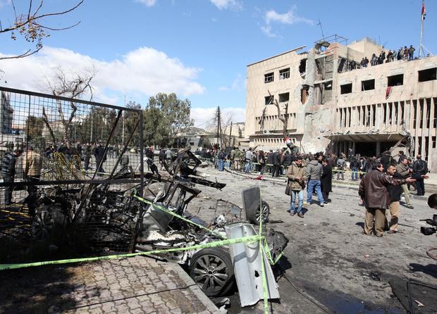 Blasts strike Syrian capital