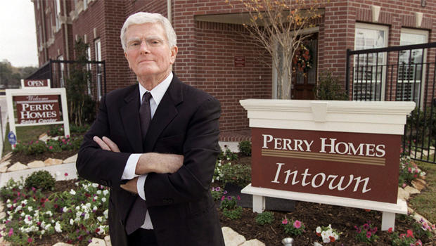 This is a Dec. 10, 2002 file photo of Houston homebuilder Bob Perry, posing at the sales center at one of his Houston developments. Perry is the nation's most generous individual political donor. He has been a leading advocate of laws to limit court awards against businesses and he is a financial benefactor to politicians and judges. He has donated more than $340,000 to the nine justices that will hear a case brought against his company by Bob and Jane Cull of Mansfield, Texas.