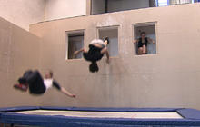 Wall Trampoline pros demonstrate their sport - WEB EXTRA