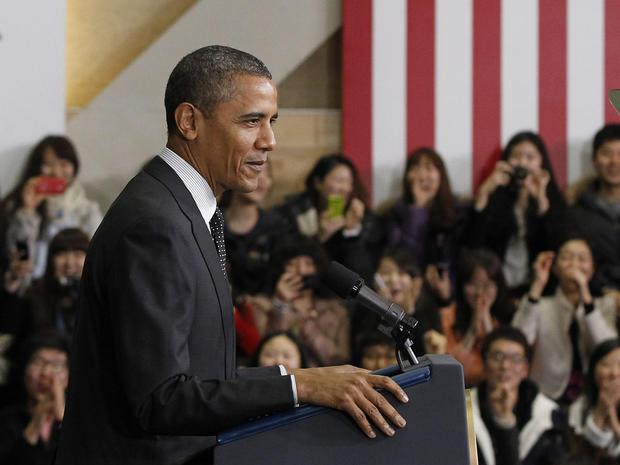President Obama speaks at Hankuk University in Seoul