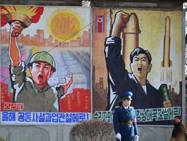North Korean propaganda posters