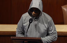 "Congressman removed from House floor for wearing ""hoodie"""