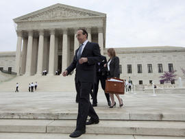 Attorney Paul Clement leaves the Supreme Court