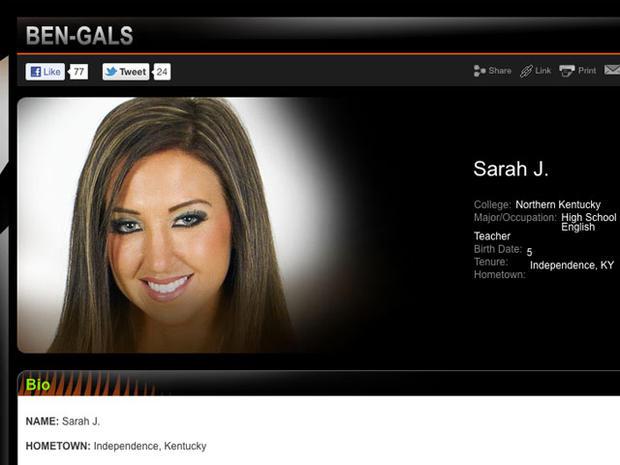 Former Cincinnati Bengals cheerleader Sarah Jones
