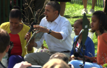 "Obama's dramatic ""Where the Wild Things Are"" reading"