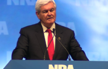 Gingrich at NRA: Right to bear arms should be universal
