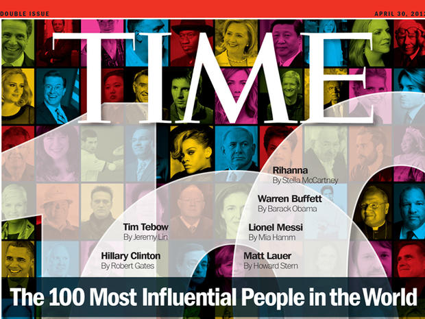 Stars  on 2012's Time 100 list