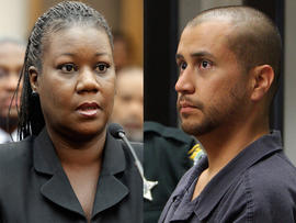 Sybrina Fulton and George Zimmerman