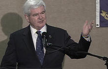 "Gingrich to take ""realistic"" look at campaign future"