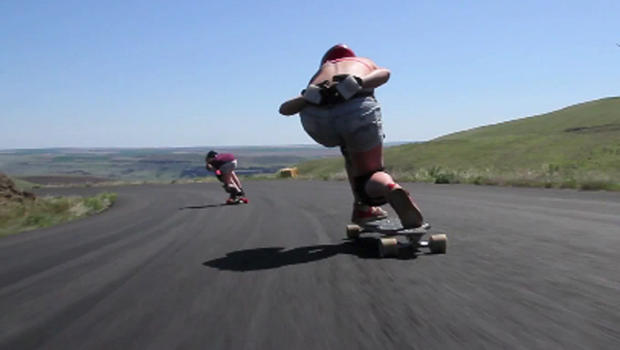 how to go downhill on a longboard