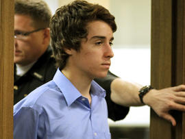 T.J. Lane, 17, appears in Juvenile Court in Chardon, Ohio, May 2, 2012.