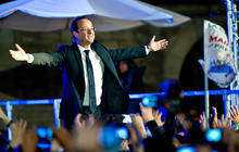 France elects new leader amid economic crisis