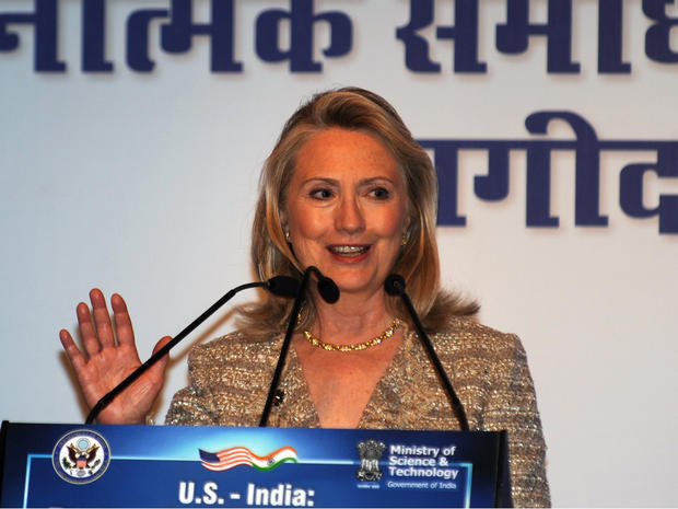 Secretary of State Hillary Clinton in India