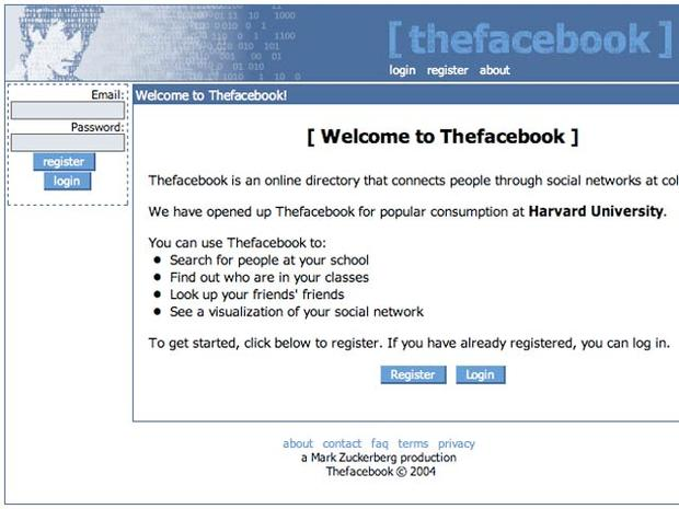 Facebook through the years