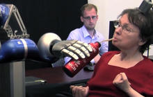Paralyzed woman drinks coffee using thoughts