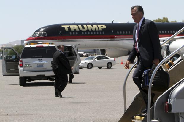 Romney, Trump plane